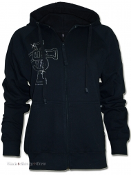 Damen Strass Hoodie Dollar & Cross
